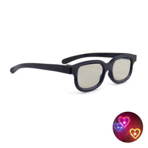 Spacebril van FestiLovers met diffractie hartjes effect - hoofdafbeelding